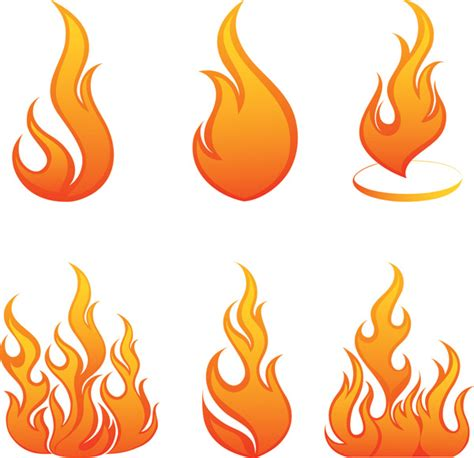 flame vector free vector 4vector
