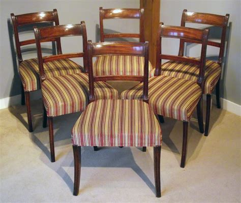 Display Cabinets In Wall Set Of Six Antique Dining Chairs Regency Mahogany Dining