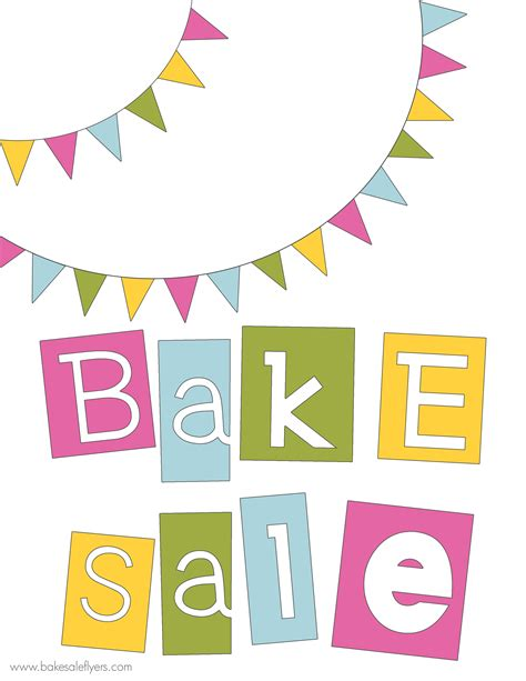 printable banner signs free printable bake sale banner bake sale ideas