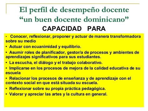 El Modelo Y Diseño Curricular Dominicano Modelo Evaluaci 243 N Desempe 241 O Docente Basado En Competencias