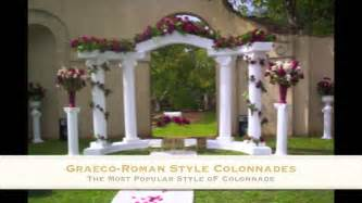 wedding arches and columns wedding columns empire columns and colonnades