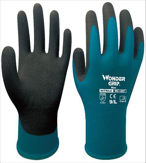 1 6 Bendable Glove safety garden glove 3 pairs nitrile dipped glove palm dipped gardening work glove in
