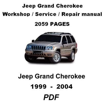 car maintenance manuals 1999 jeep grand cherokee parental controls jeep grand cherokee 1999 2004 complete official factory service