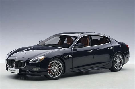 Highly Detailed Autoart Blue Maserati Quattroporte