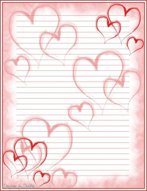 printable heart stationery 17 best images about printable lined writing paper on