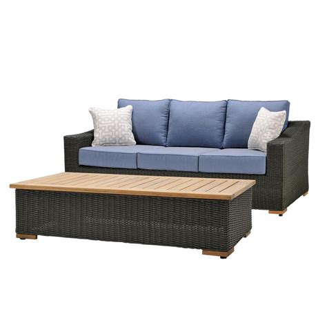 outdoor sofas and loveseats la z boy new boston 2 piece wicker outdoor sofa and coffee
