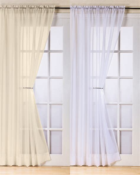 Voile Curtains For Patio Doors Plain White Voile Curtains Curtain Menzilperde Net