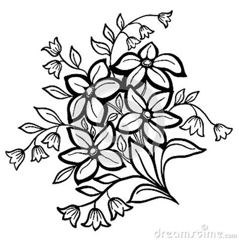 Outline Sketches Of Flowers by Flower Arrangement A Black Clipart Panda Free Clipart Images
