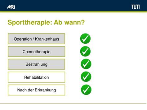 wann chemotherapie k 246 rperliche aktivit 228 t bei tumorerkrankungen