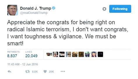 donald trump tweets donald trump tweets that he was right about terrorism