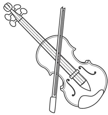 viola bass coloring page coloring pages