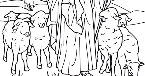 coloring page jesus the good shepherd collections