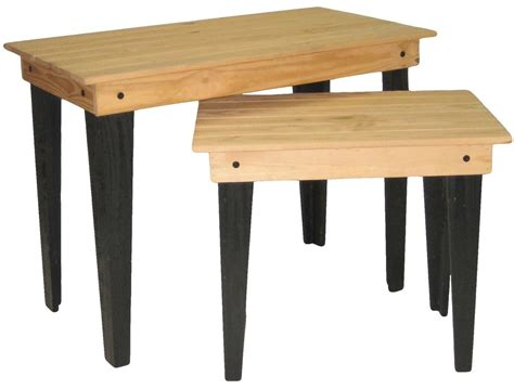 Rustic Nesting Tables by Rustic Nesting Tables Solid Pine Wood