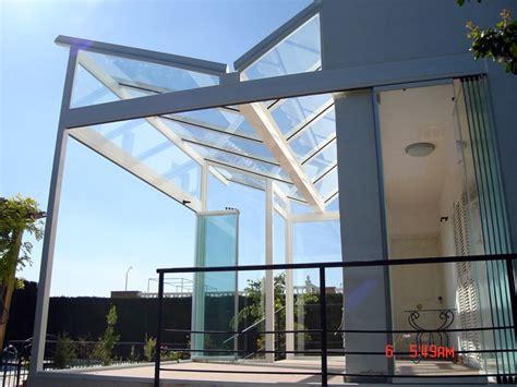 techo de vidrio foto cerramiento con techo de vidrio y cortina de cristal