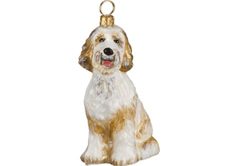 Goldendoodle Glass Ornament By To The World