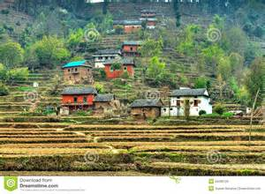 The House Designers Nepalese Hill Village Royalty Free Stock Photos Image