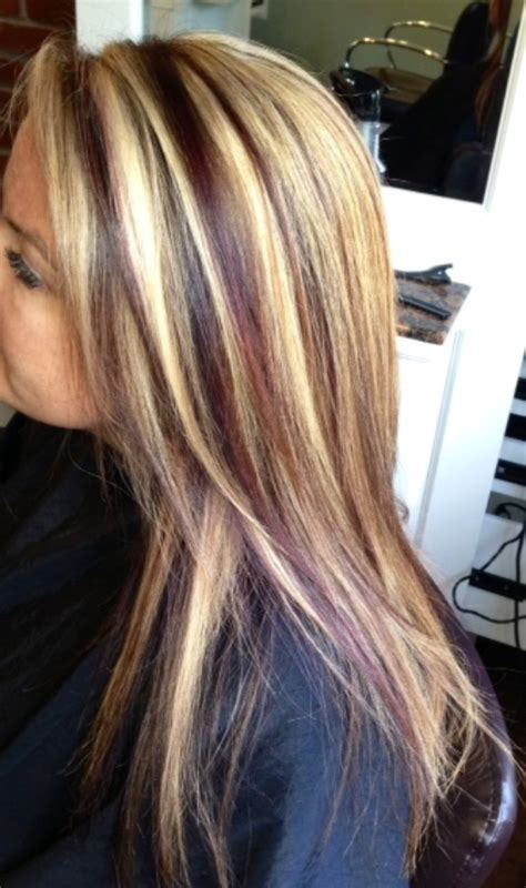 blonde highlights with mahogany low lights mahogany hair color with blonde highlights