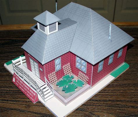 House Papercraft - my house schoolhouse paper model