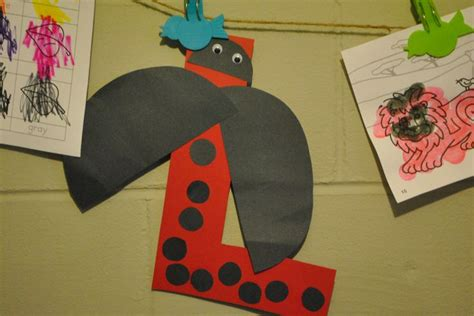 l craft project letter l crafts letter l
