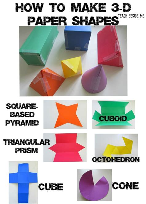 Paper Folding Activities In Mathematics - 3d paper shapes 3d paper math and 3d