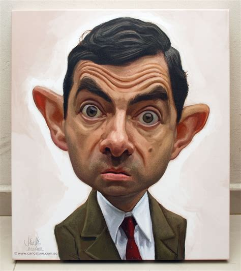 painting mr bean mr bean digital caricature painting printed on canvas flickr