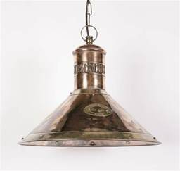 light pendant deck solid copper and brass 1 light pendant from richard