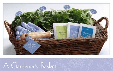 Gift Basket Ideas For Gardeners Gardener S Basket Evermine