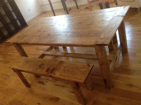custom wood dining room tables custom wood farmhouse rustic dining room table and bench
