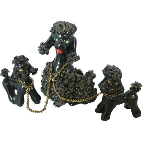 mid century spaghetti l mid century glistening mica spaghetti french poodle with