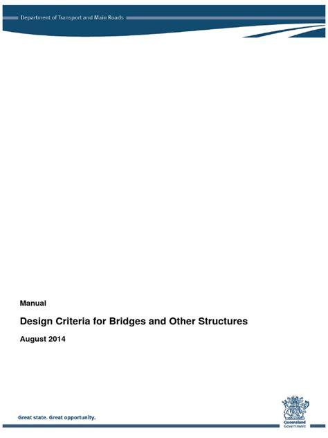 bridge structures design criteria version 6 0 design criteria for bridges docshare tips