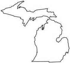 Outline Of Michigan And Great Lakes by Michigan Pattern Use The Printable Outline For Crafts Creating Stencils Scrapbooking And