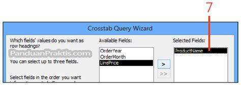 cara membuat query wizard yang benar cara membuat query crosstab menggunakan query wizard di