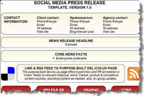 social media news release template how to get your press release to all the big news networks