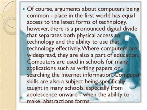 Importance Of Computer Skills Essay by Importance Of Computer Literacy