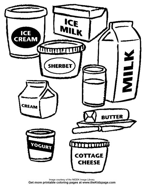 Dairy Products Coloring Pages Dairy Products Images Cliparts Co
