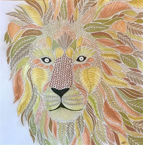 millie marottas wild savannah my colouring millie marotta wild savannah gold and copper lion my coloring millie marotta