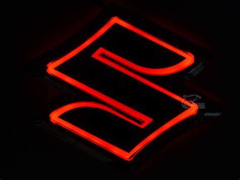 5d rear badge bulb emblem car logo light for suzuki