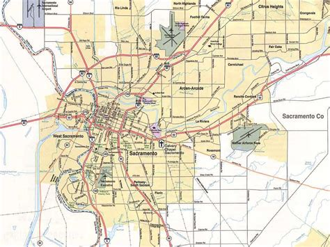 sacramento california map maps of sacramento