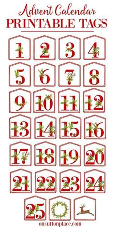 advent calendar countdown printable christmas advent calendar numbers printable advent