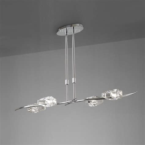 mantra m1456 eclipse 4 light chrome pendant bar ceiling light