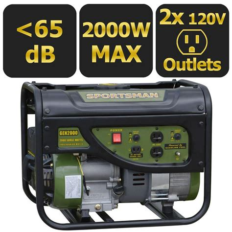 sportsman 2 000 watt gasoline powered portable generator