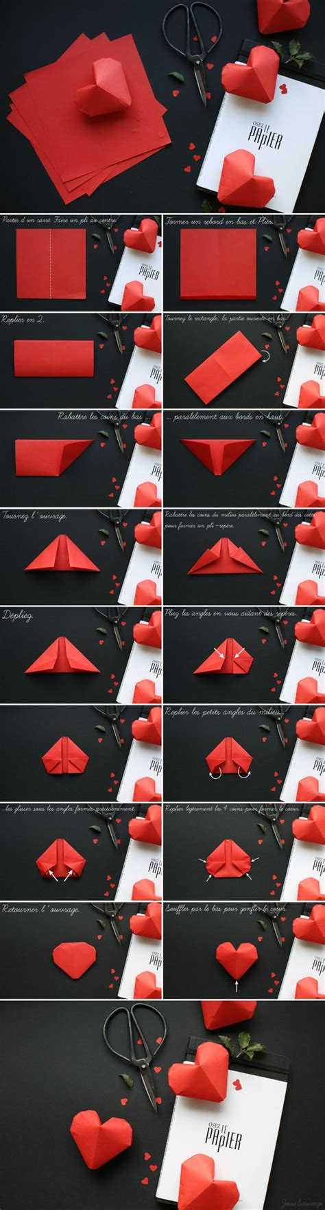 3d Hearts Origami - how to fold lovely origami hearts how to