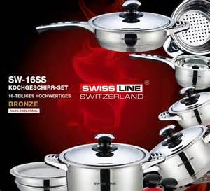 Swiss Koch Kitchen Collection Cookware Sets R23500 Swiss Line 18 10 Stainless Steel