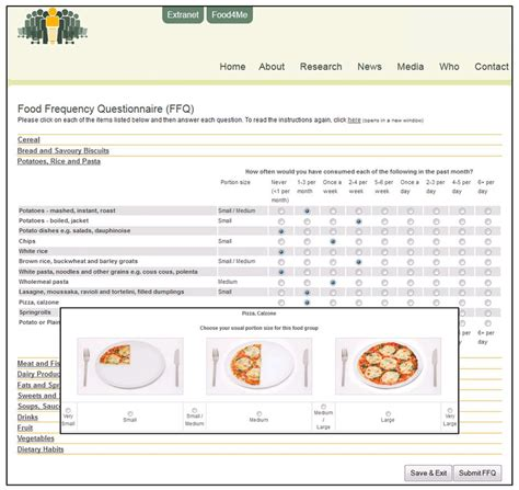 food questionnaire template food frequency questionnaire template seven top risks of