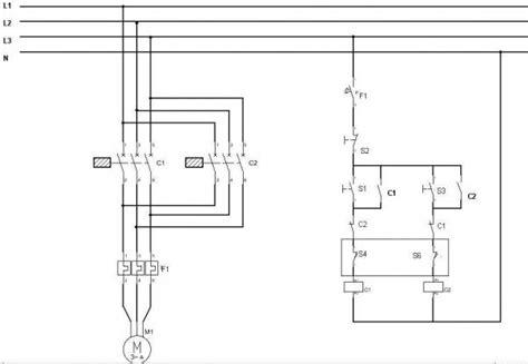 wiring diagram   phase  reverse starter motor