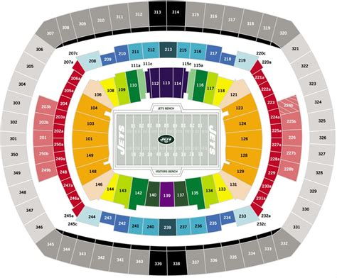 meadowlands seat view image gallery meadowlands seating chart