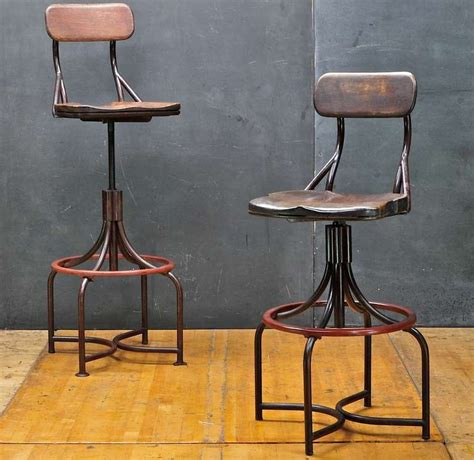 Vintage Industrial Stool With Back by 1930 S Vintage Industrial Westinghouse Factory Bar Stool