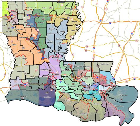 louisiana district map louisiana voting districts map map