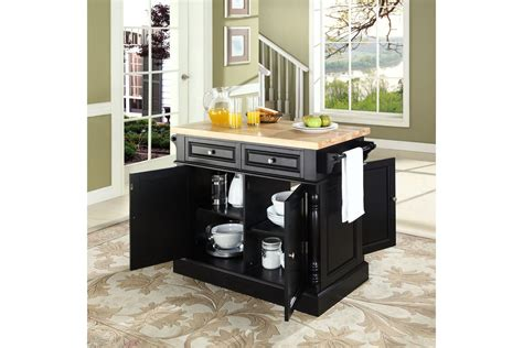 black kitchen island with butcher block top oxford butcher block top kitchen island in black by crosley