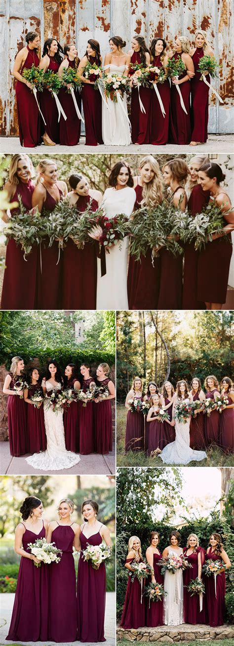 wedding colors for fall 50 refined burgundy and marsala wedding ideas for fall